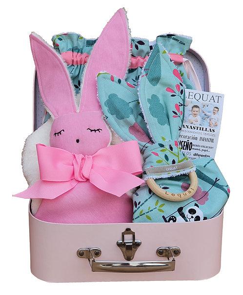 PANDA maleta+doudou+bolsa+bandana+mordedor
