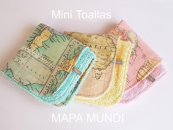 Toallitas mapamundi