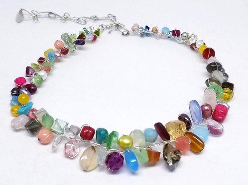 multi gem small collar sw