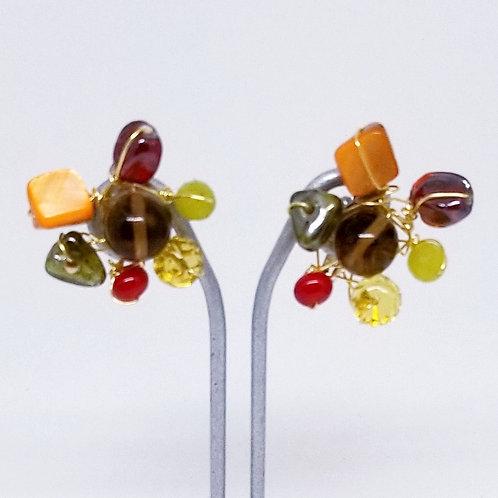 spice gem cluster earring gw