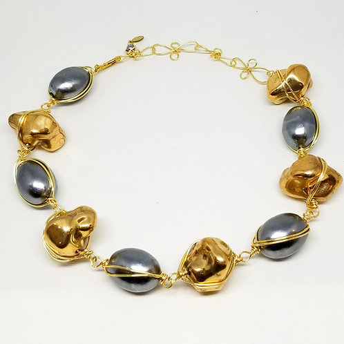Gold Rock/Hematite Cotton gw