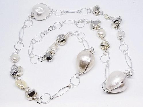 White Cotton/Pearl/Silver Nugget sw