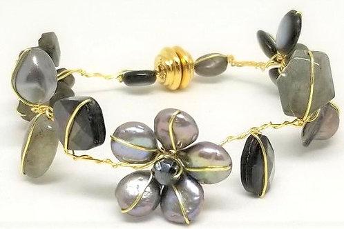 grey gem flower bracelet gw