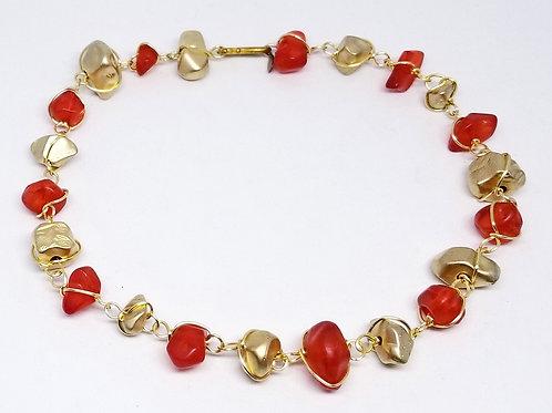 matte bright red/matte gold nugget gw