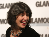 Christiane Amanpour wearing Abra Couture