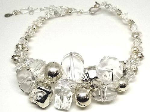 Silver Clear Jumbo collar sw
