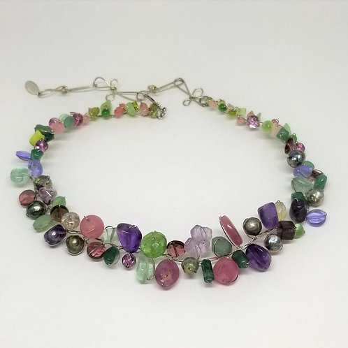 purple green gem small collar sw