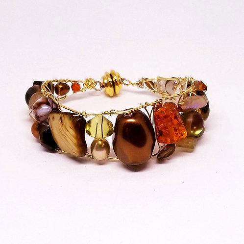 fall gem cuff bracelet gw