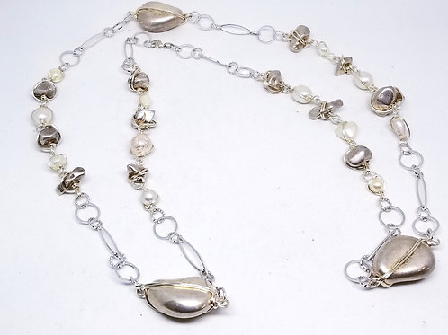 Silver Oval/Nugget/Pearl sw