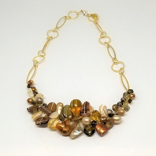 fall gem section necklace gw