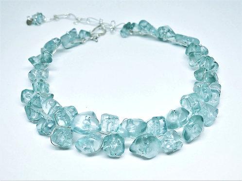 Shiny Light Blue Nugget Collar sw