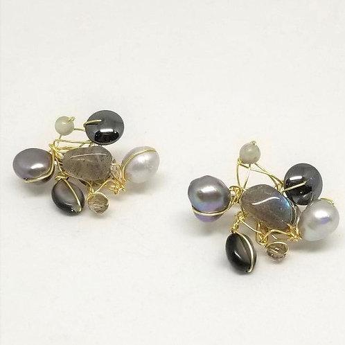 grey gem cluster ear gw