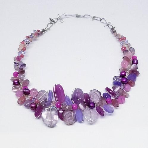 purple gem large collar sw