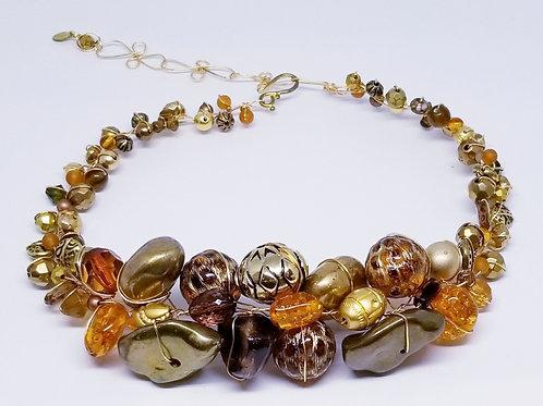 Gold Brown Leopard Jumbo Collar gw