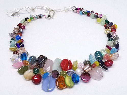 multi gem large collar sw