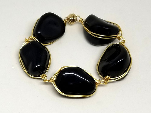 shiny black walnut bracelet gw