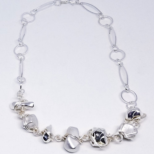 shiny/matte silver nugget sw