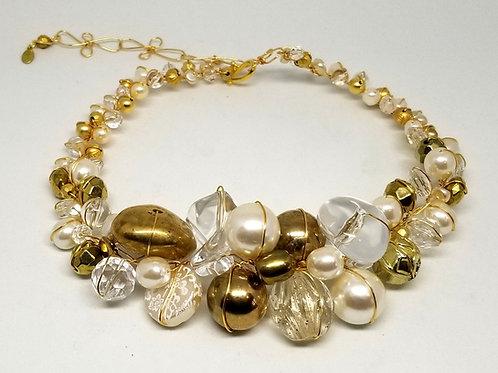 Clear Pearl Gold Jumbo collar gw
