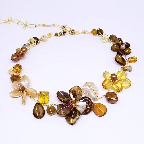 fall gem flower collar gw