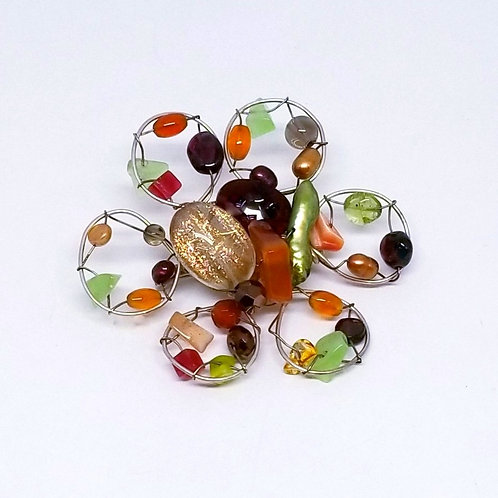spice gem flower pin sw