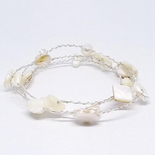 white pearl gem bangles sw