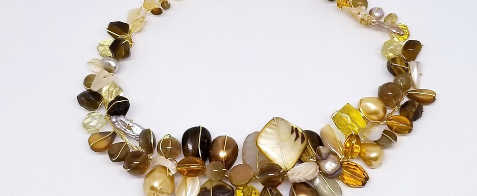 Yellow Fall Large Gem Collar gw