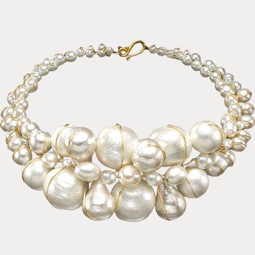 White Cottonball Jumbo collar gw