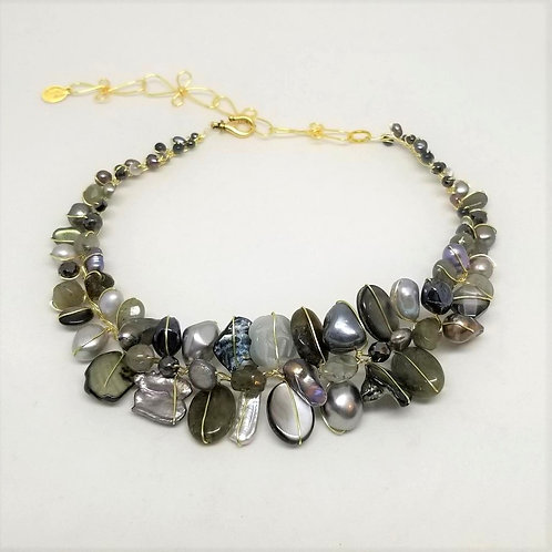grey gem large collar gw