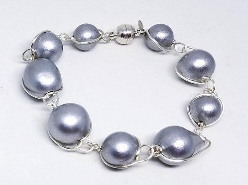 light grey cotton link bracelet sw