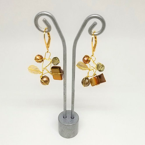 fall gem web earring gw