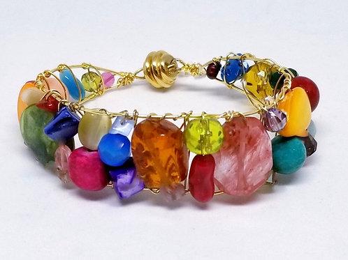 multi gem cuff bracelet gw