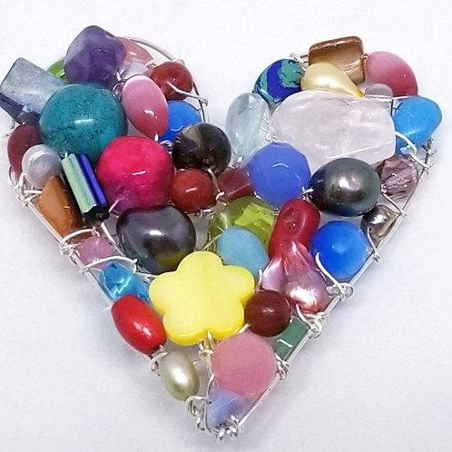 multi gem heart pin sw
