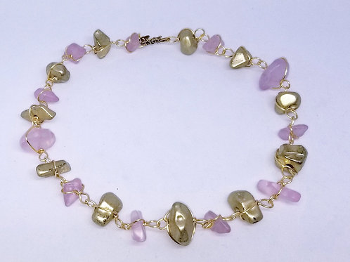 matte light lavender/ matte gold nugget gw