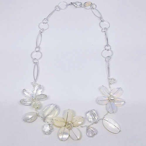 white ab clear gem flower section nk sw