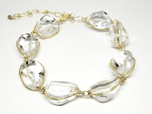 Clear Walnut Necklace gw