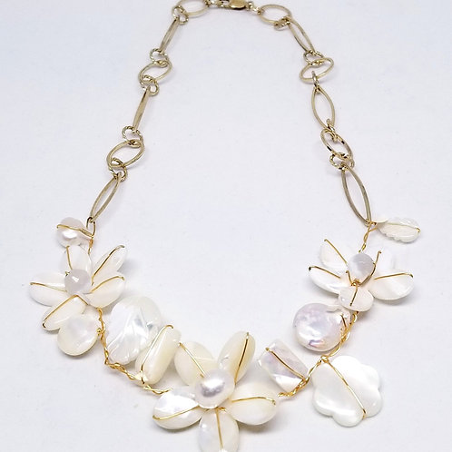 white pearl gem flower section nk gw