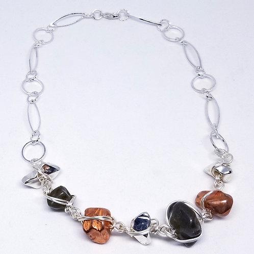 copper/bronze/shiny silver nugget sw