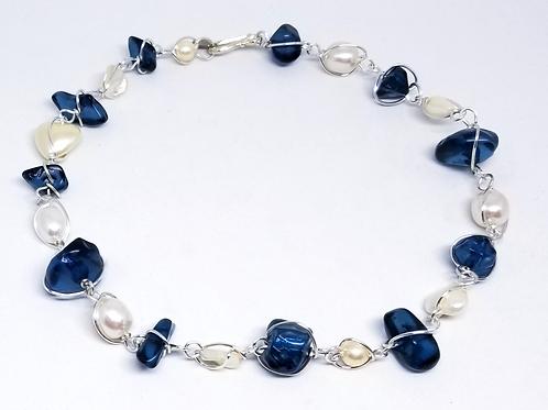 shiny dark blue nugget/pearl sw