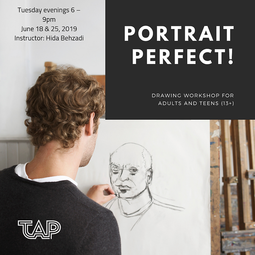 Portrait Perfect! Drawing Workshop for Adults and Teens (13+)