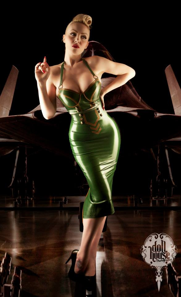 Military Pin-up by Dollhouse Photography - Award Winning Pinup Photographer. Model October Divine.