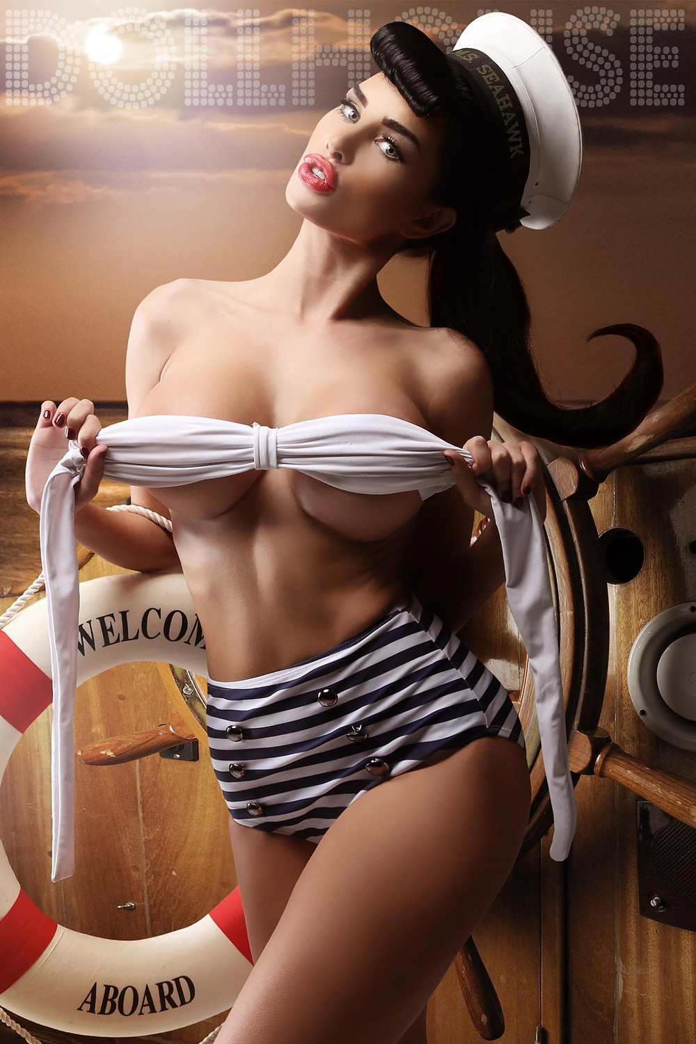 Ann Denise Model Nautical Pin up Photography by DollHouse Photography