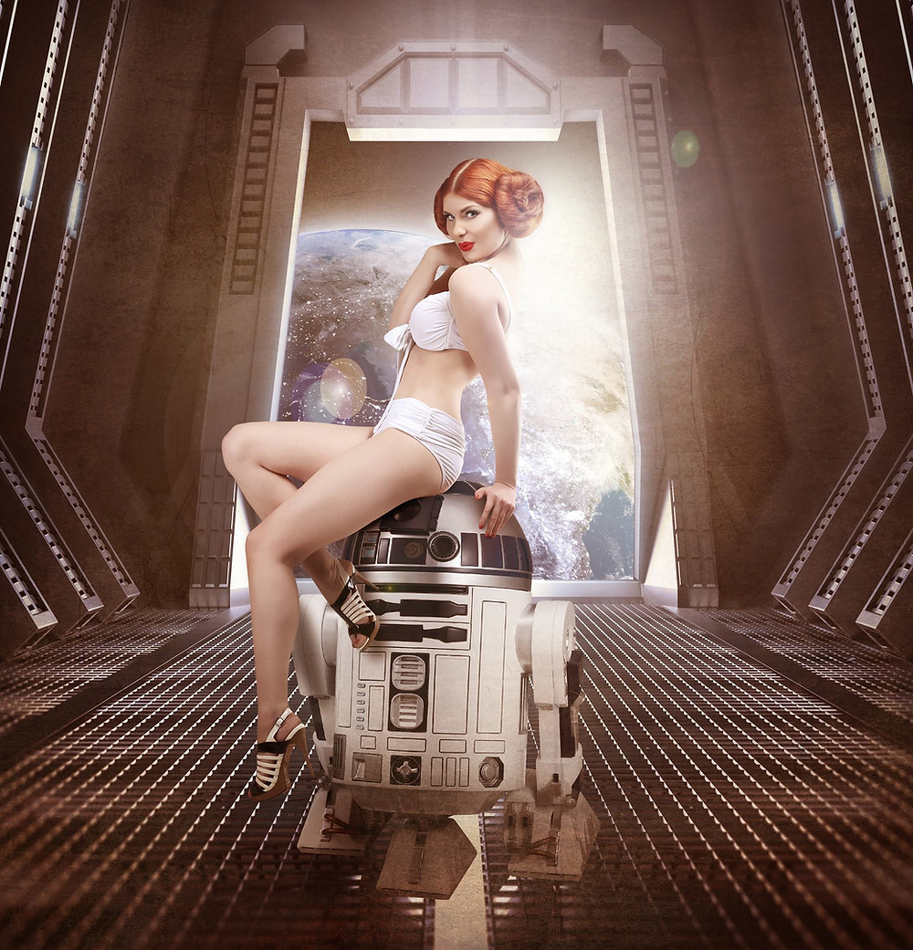 Star Wars R2D2 Cosplay Pinup | By Chrissy Sparks at DOLLHOUSE