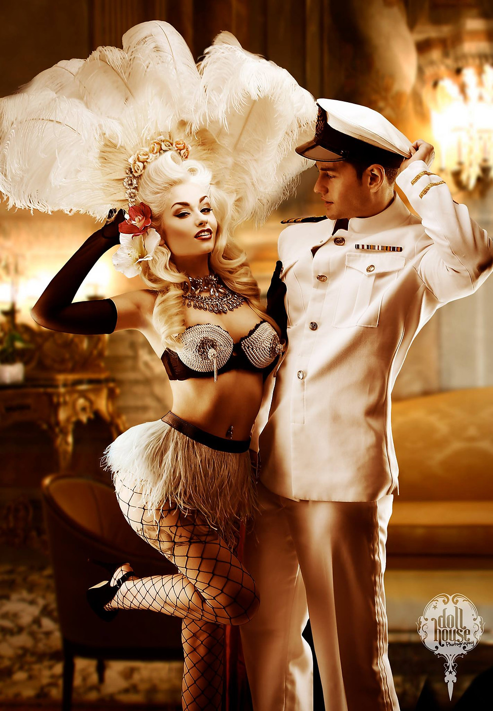 Couple Pinup Photo Shoots by DollHouse Photography with Romanie Smith