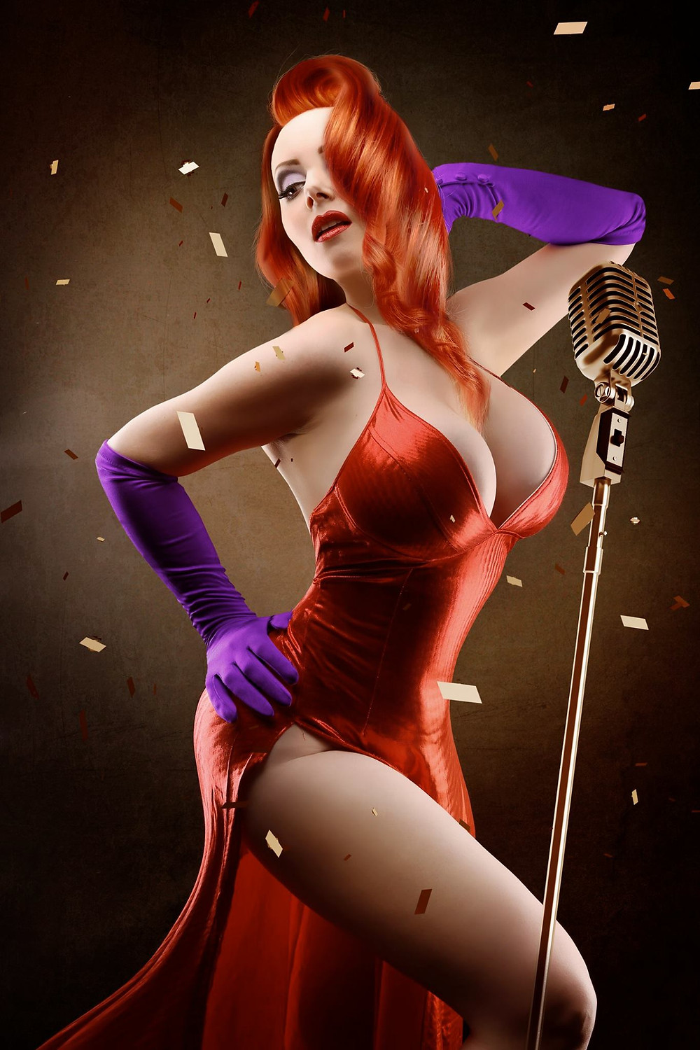 Jessica Rabbit Cosplay Pinup | Model: October Divine | By Chrissy Sparks at DOLLHOUSE