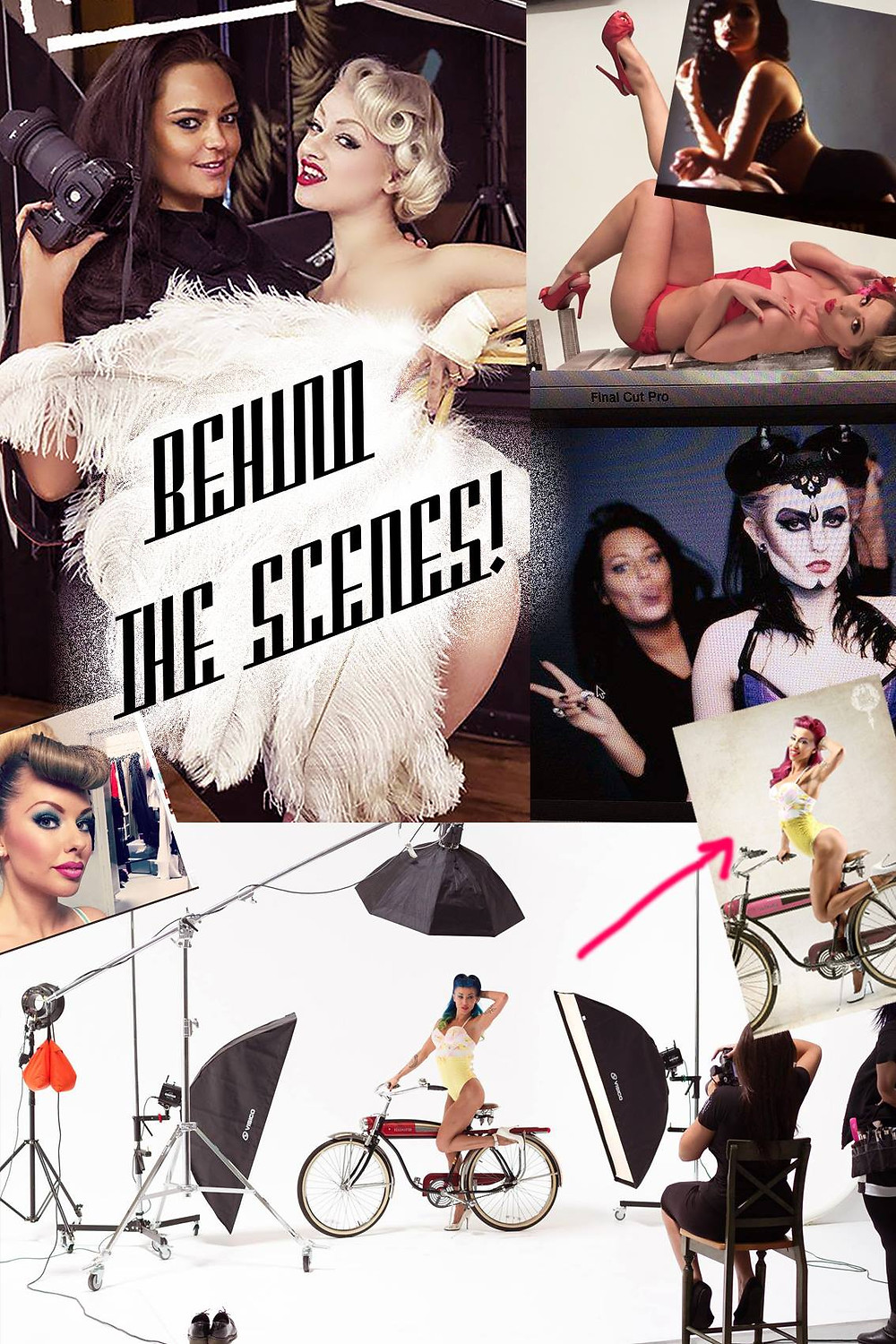 Behind the scenes at DollHouse Photography Make Over Studio