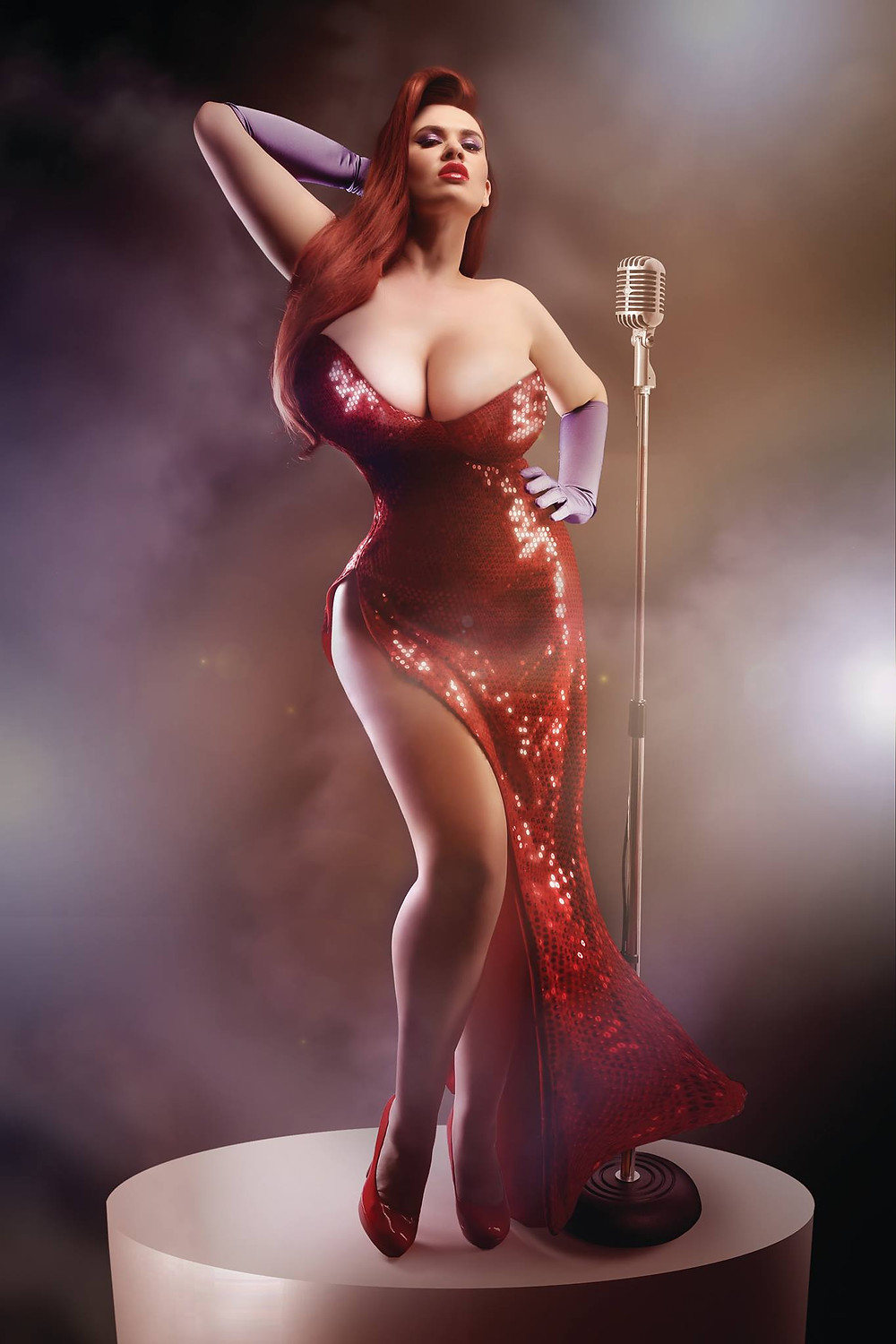 Jessica Rabbit Pinup Cosplay | Model: Lexy Lu | By Chrissy Sparks at DOLLHOUSE