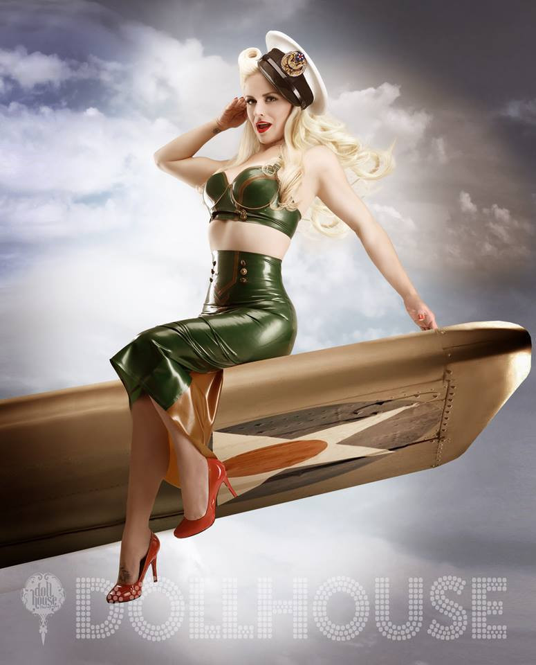 Military Pin-up by Dollhouse Photography - Award Winning Pinup Photographer. Model Ami-Lou.