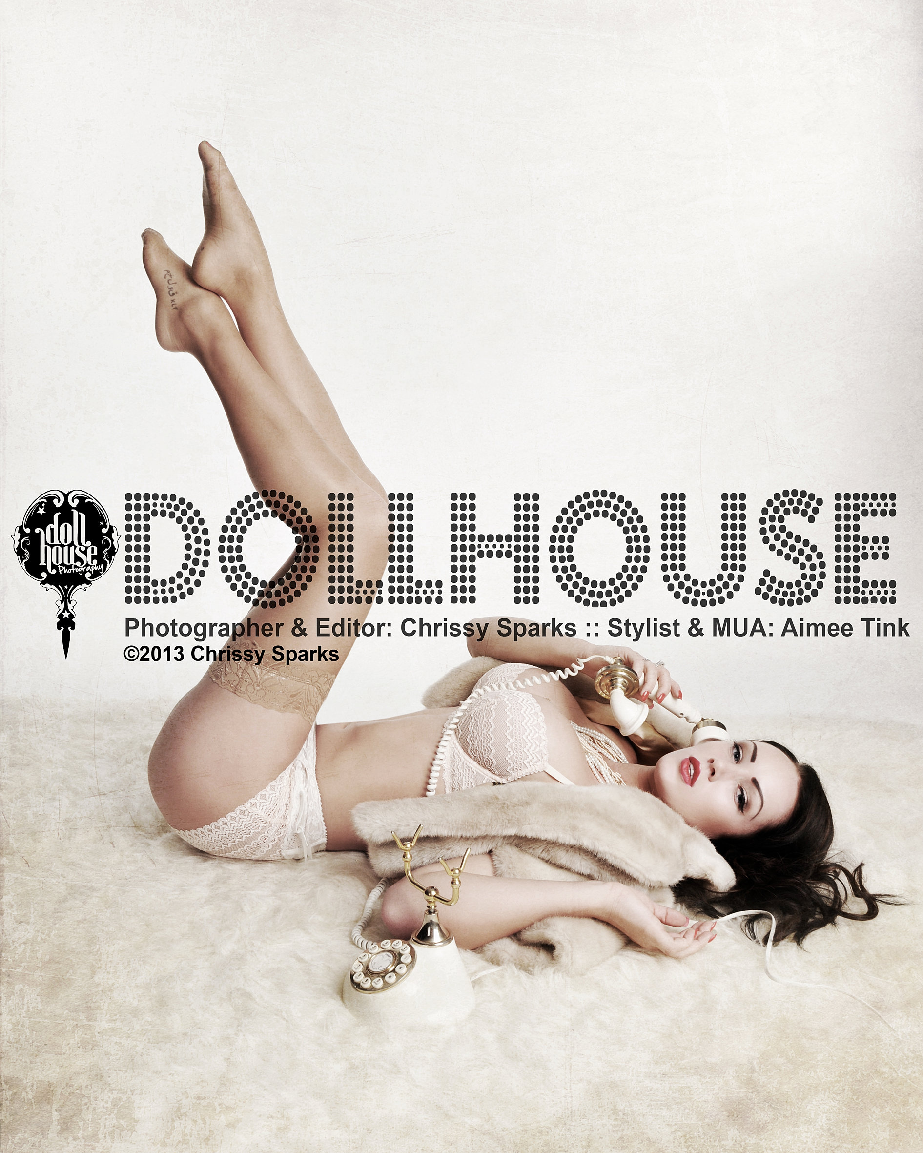 Dollhouse Photography Vintage Retro Pin Up Makeover