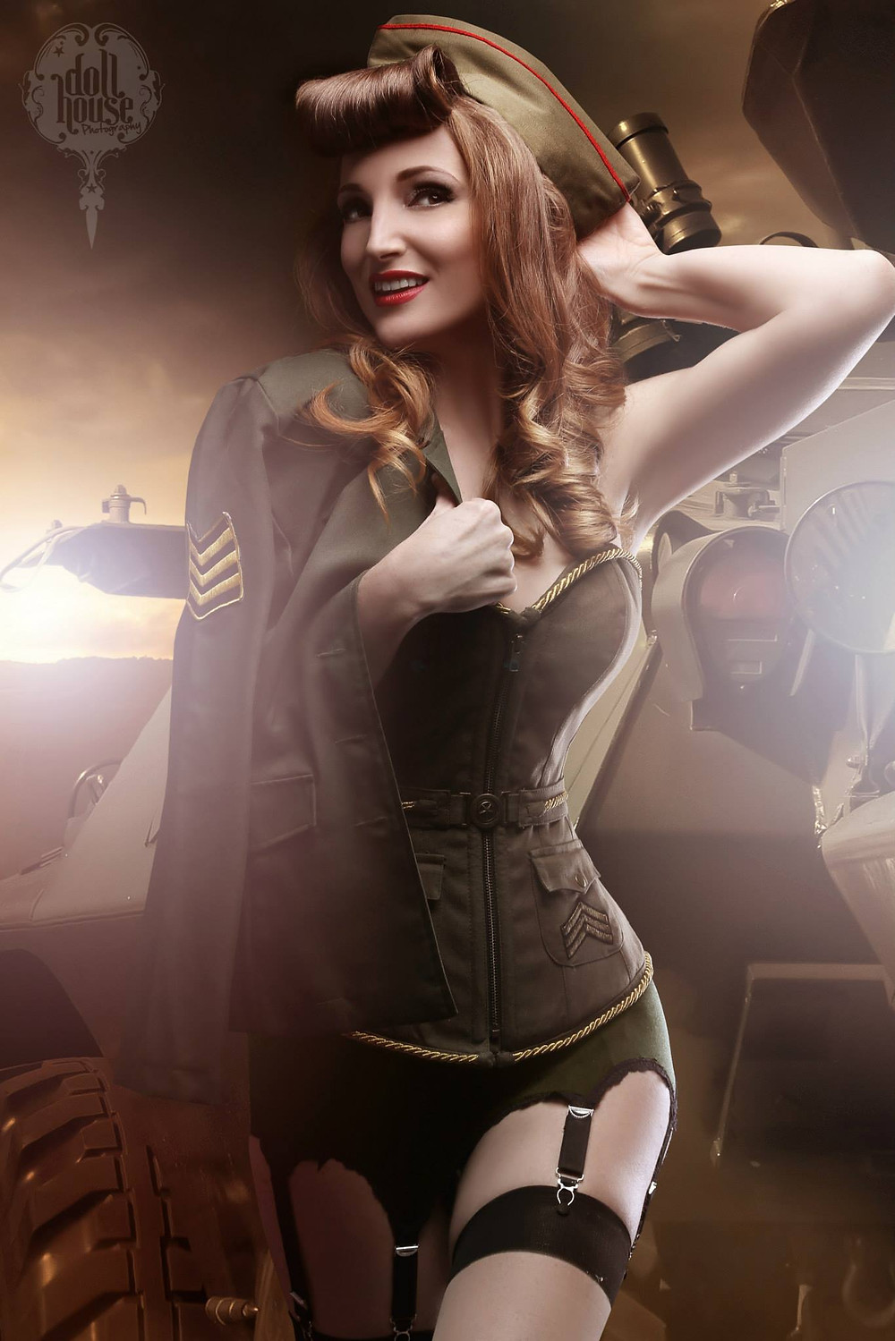 Military Pin-up by Dollhouse Photography - Award Winning Pinup Photographer