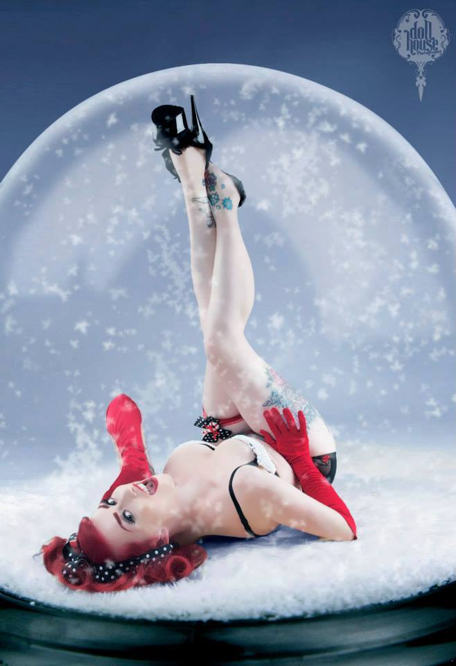 Jessica Holly Christmas Pinup by DollHouse Photography